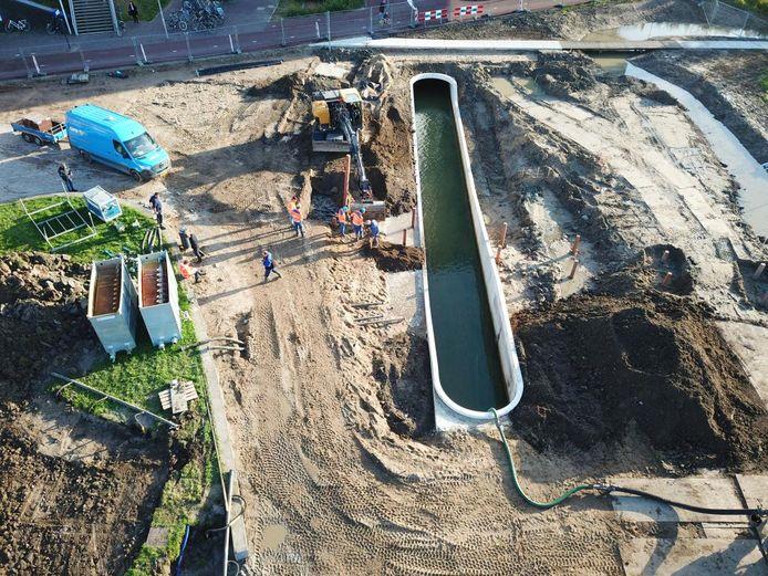 Een foto van het riool in Arnhem-Zuid waar de werkzaamheden plaatsvinden