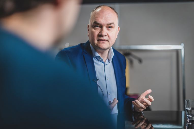 Björn Rzoska (Groen): 'Zou het niet goed zijn dat de Vlaamse regering één winnaar in haar rangen telt?'  Beeld Jan Aelberts