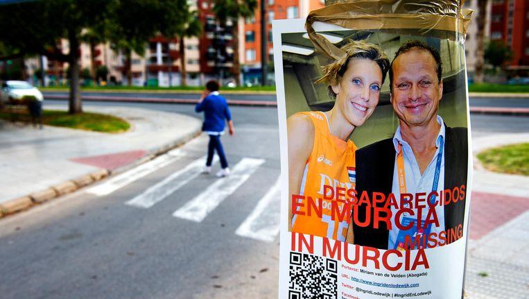 Een affiche tijdens de vermissing van Ingrid Visser en Lodewijk Severein. Beeld anp