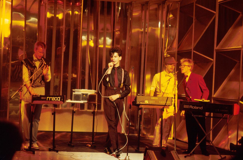 Depeche Mode bij  Top of the Pops , 1981. Beeld null