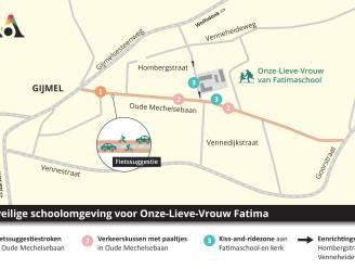 Onze-Lieve-Vrouw van Fatimaschool in Gijmel is vanaf maandag verkeersveilige omgeving