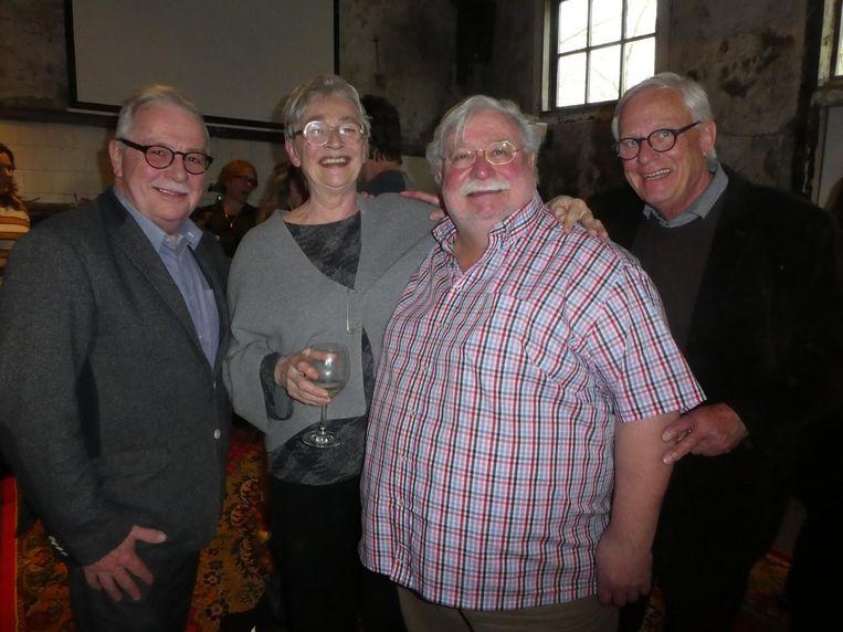 Topchefs in ruste Emmanuel Mertens, Jean Beddington, Wil Demandt en Wulf Engel. Beeld Hans van der Beek