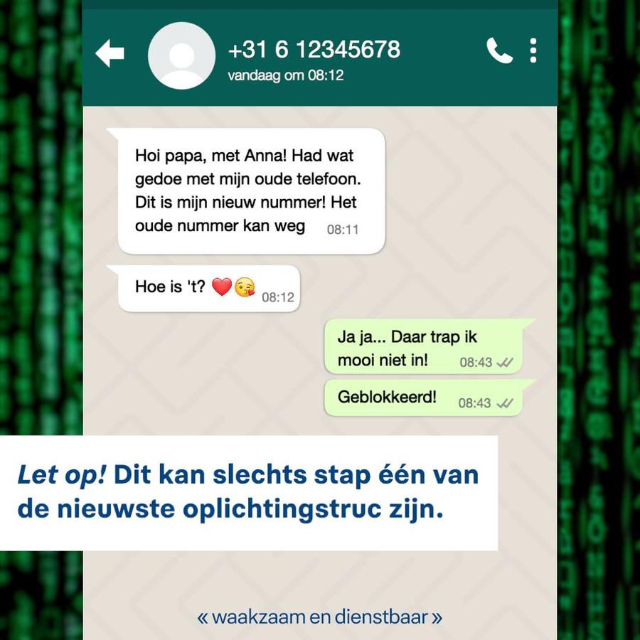 Whatsapp-fraude is een groeiend probleem, ook in Kampen.