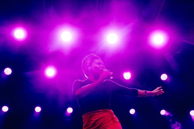 China Moses op Jazz Middelheim. Beeld Wouter Van Vooren
