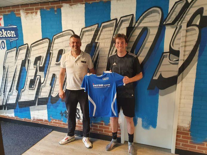 Shem Boersma (rechts) draagt komend seizoen het shirt van De Merino's.