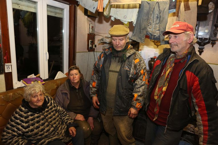 Het landbouwersgezin uit Heikruis: Gabriëlle, Sonia, Stefan en Roger.