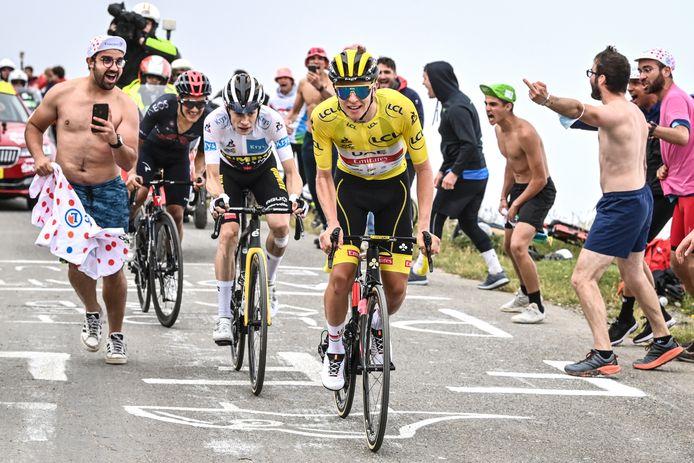 Tadej Pogacar schitterde in de zware Pyreneeënrit van Muret naar Col de Portet.
