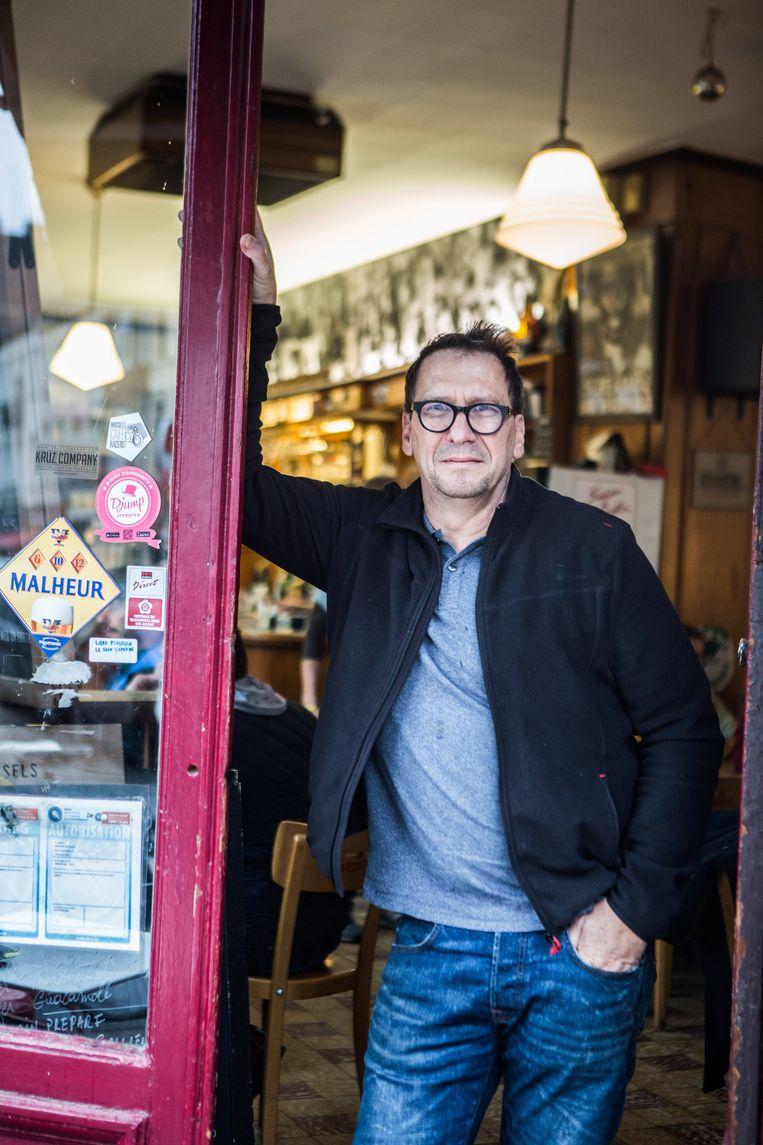 Bart Lemmens van Brasserie de l'Union. 'Als je café houdt, krijg je altijd bedreigingen.' Beeld thomas legreve