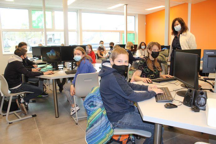 Het ICT-lokaal is het pronkstuk van de nieuwbouw.