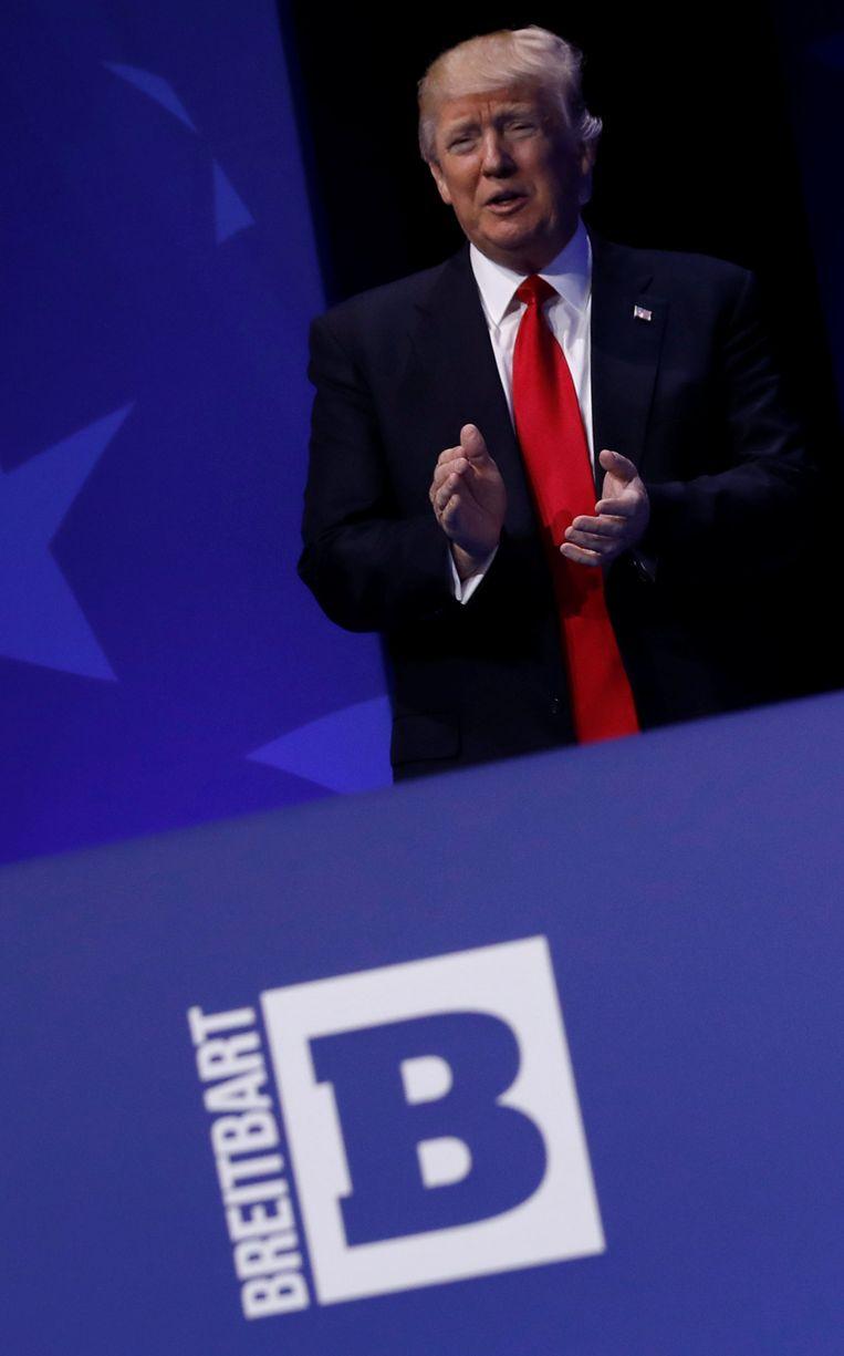 Breitbart was een van Donald Trumps grootste voorstanders tijdens zijn verkiezingscampagne. Beeld REUTERS