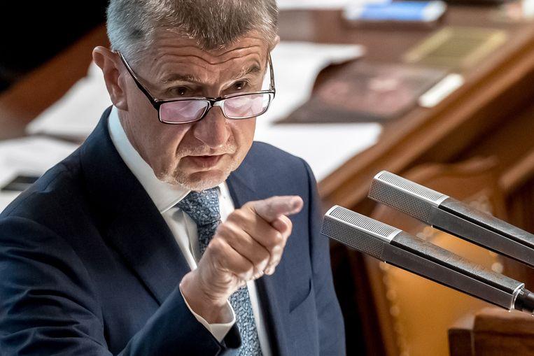 Andrej Babis, de premier van Tsjechië. Beeld EPA