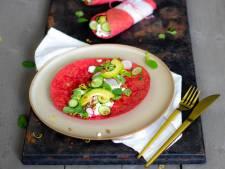Wat Eten We Vandaag: Rode bieten wraps met linzen en cottage cheese
