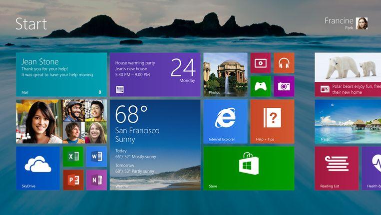 Het lek bevindt zich in Windows 8.1 Beeld microsoft