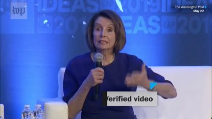 "Fake video's van ""dronken"" Pelosi gaan viraal in de VS"