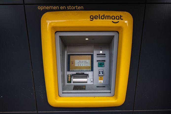 Een geldautomaat van Geldmaat. In Maarn wordt nog bekeken hoe de automaat eruit gaat zien.