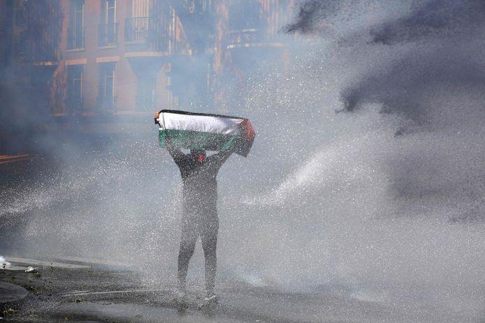Pro-Palestijns protest in Parijs op 15 mei 2021.