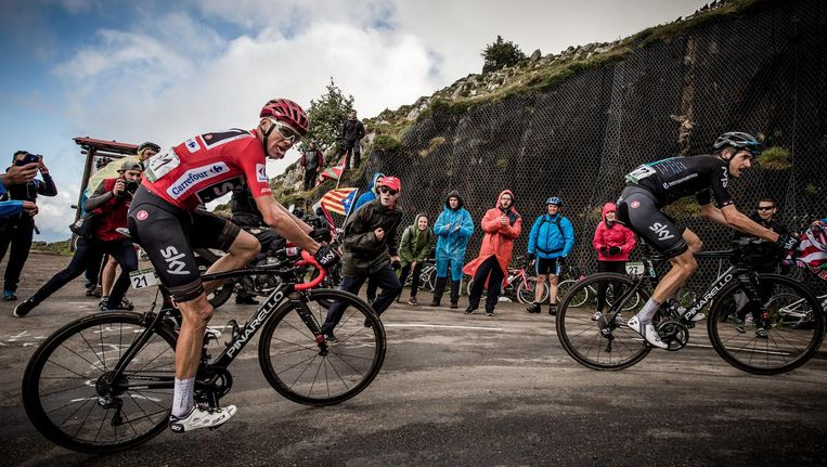 Skye-topman Chris Froome tijdens de Vuelta Beeld getty