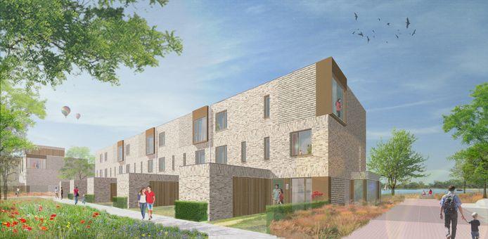 Impressie van enkele van de woningen in het bouwplan Whemedreef in Arnhem-Zuid.