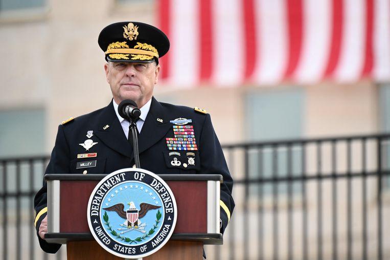Generaal Mark Milley, de hoogste militair van de VS. Beeld REUTERS