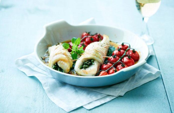 Rogfilet met zeekraal, kerstomaat en rucolasaus