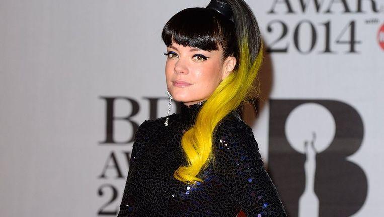 Lily Allen tijdens de Brit Awards. Beeld PHOTO_NEWS