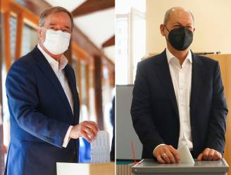 Duitse verkiezingen: nek-aan-nekrace tussen SPD en CDU/CSU, beide kandidaten claimen kanselierschap