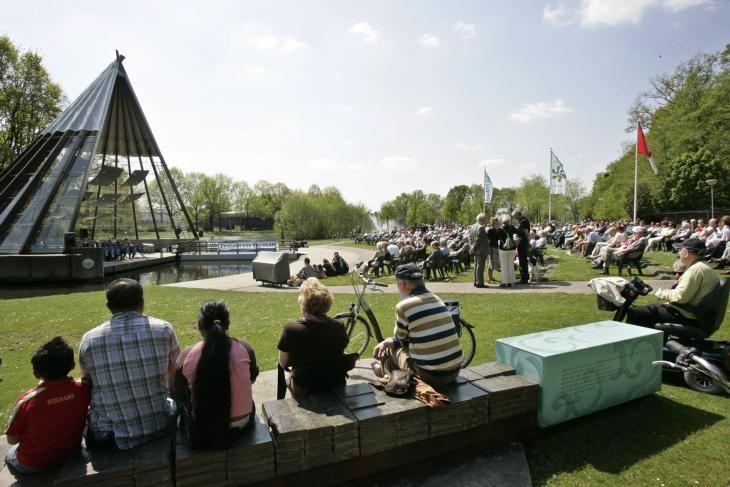 Een Caratconcert in stadspark de Warande in Helmond.