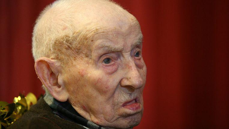 Jan Goossenaerts bij zijn 110de verjaardag.