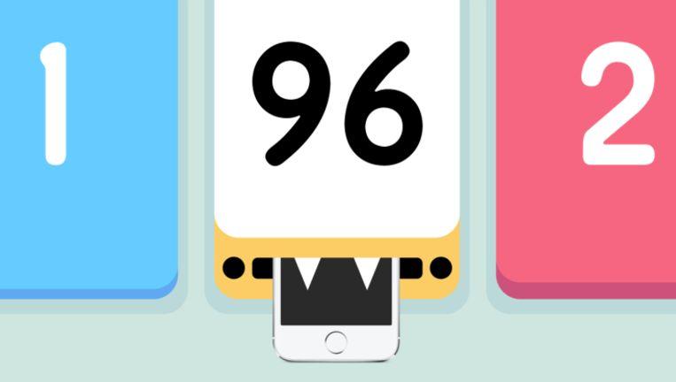 Threes!, de beste game van 2014 volgens Apple. Beeld rv