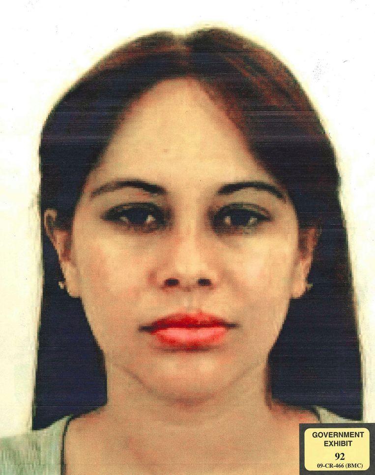 Een van El Chapo's maîtresses, Lucero Guadalupe Sanchez Lopez.