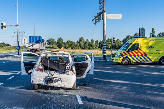 Ongeluk in Tilburg.