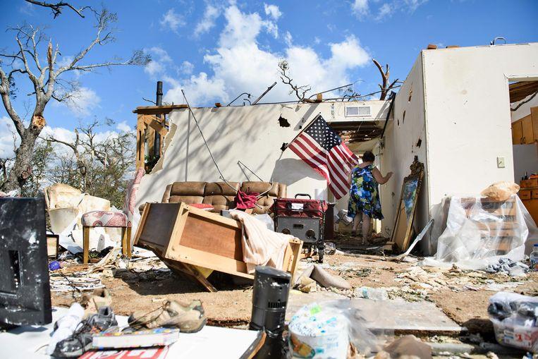 De overblijfselen van een huis in Panama City in Florida.
