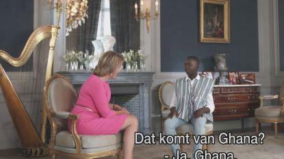 Jonge rapper geeft zijn allereerste concert voor koningin Mathilde