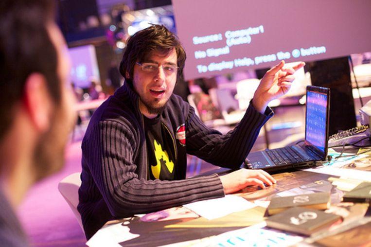 Gamemaker Rami Ismail. Beeld Vlambeer