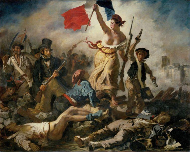 La Liberté guidant le peuple, Eugène Delacroix, 1830. Beeld Erich Lessing Culture and Fine Arts Archives