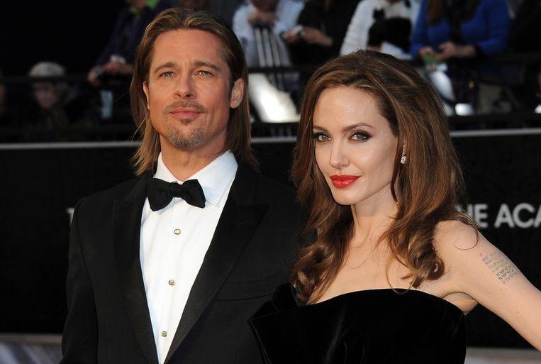 Brad Pitt en Angelina Jolie Beeld anp