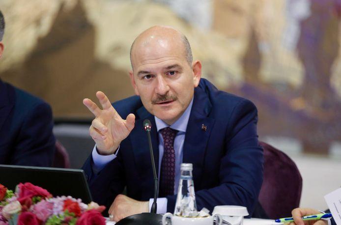 De Turkse minister Suleyman Soylu (archieffoto) maakte de arrestatie bekend.