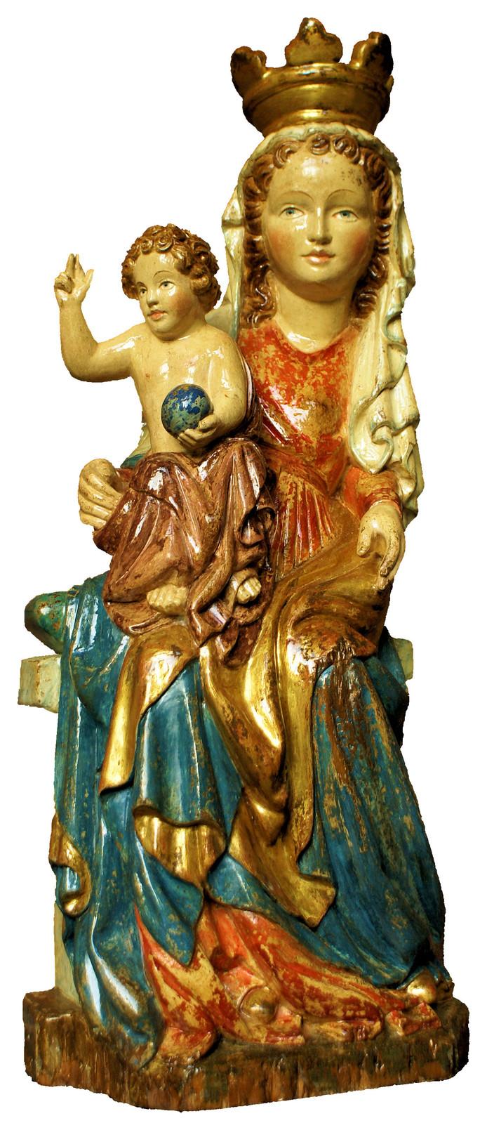 Het gestolen Mariabeeld van de kapel in de vrouwentuin van trappistenabdij Koningshoeven