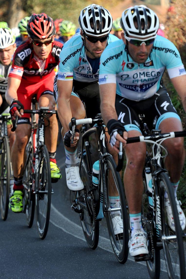 Op het cruciale moment op de Poggio zat Boonen te ver. Beeld BELGA
