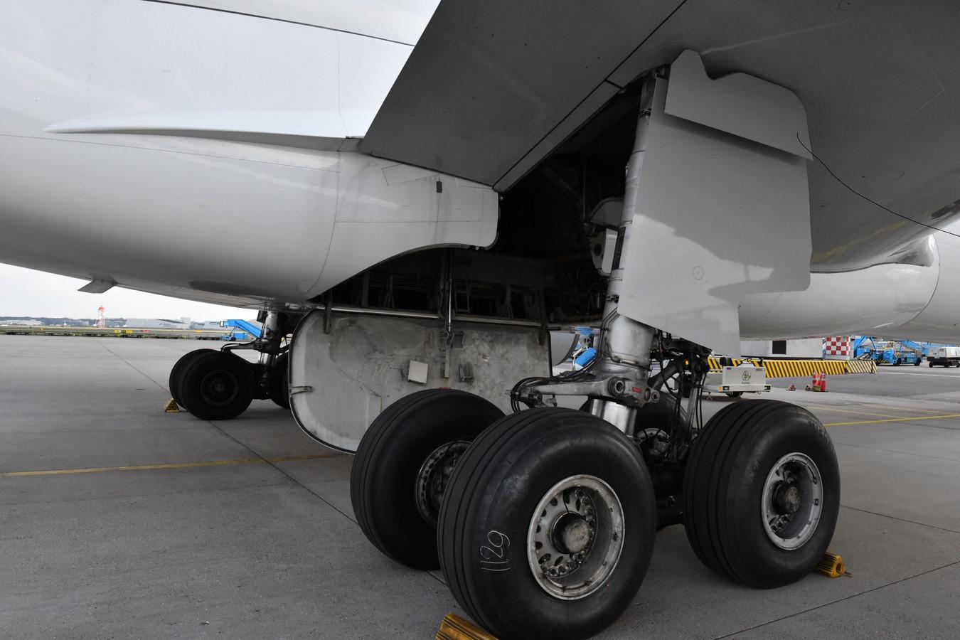 Het is nog niets eens zo heel lastig om in de wielkast van een vliegtuig te komen. Je springt op een wiel, klimt aan de wielstang omhoog en trekt jezelf de wielkast in.
