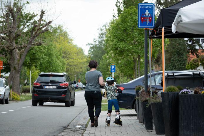 De Rozenlaan is een fietsstraat