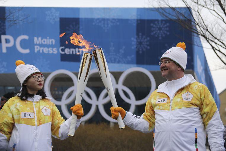 De Olympische vlam. Beeld Getty Images