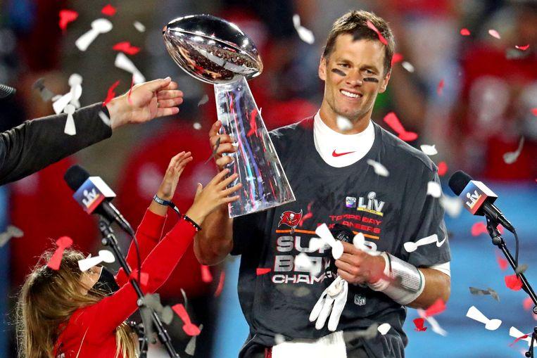 Tom Brady wint voor de zevende keer de Super Bowl. Beeld USA TODAY Sports