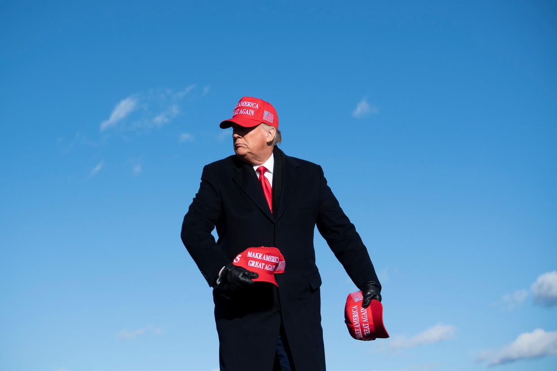 Trumps mega-bijeenkomsten hadden slechts één doel: het enthousiasme onder zijn aanhangers vergroten. Beeld AFP