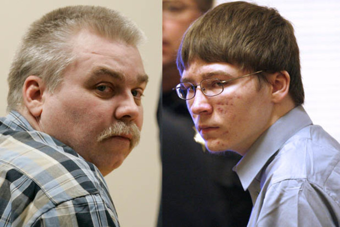 Steven Avery (links) en Brendan Dassey