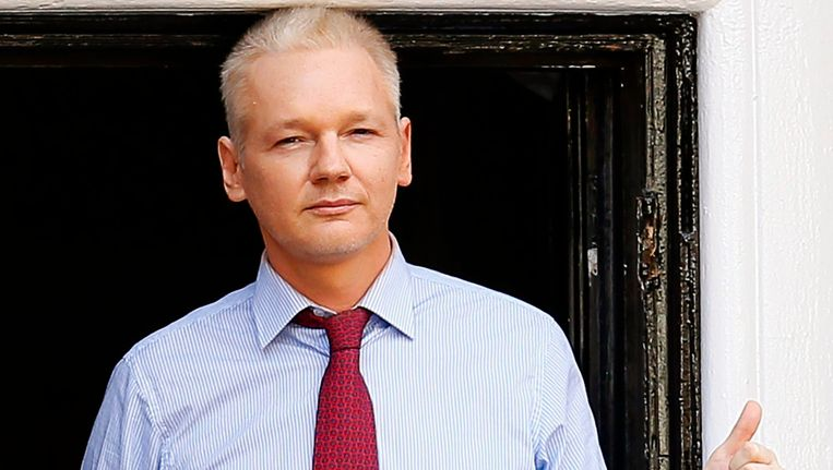 WikiLeaks-stichter Julian Assange. Beeld EPA