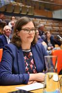 Annemieke Wissink van de PvdA in het provinciehuis in Zwolle.