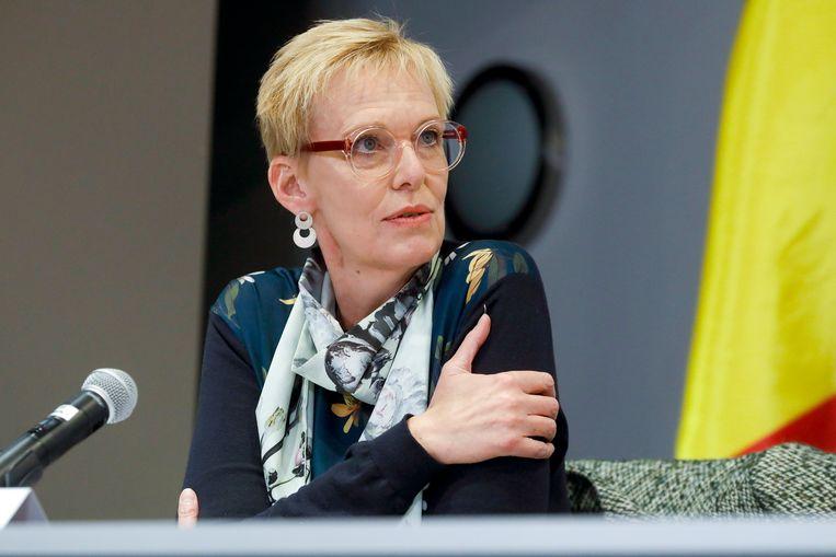 Pensioenminister Karine Lalieux. Beeld Photo News