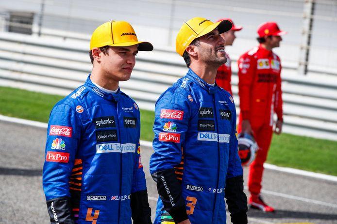 Norris en Ricciardo.