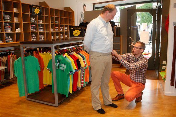 Bart Debbaut runt met veel enthousiasme De Gouden Schaar in Tienen.
